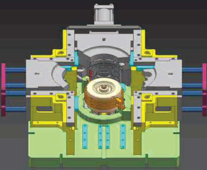Wolong Group water-cooled motor housing mould