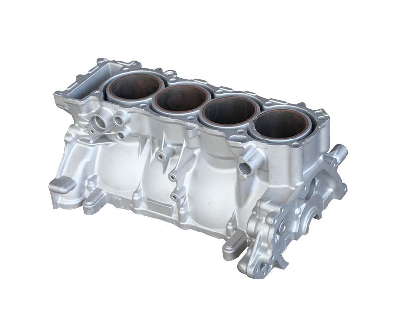 Outboard motor four cylinder block
